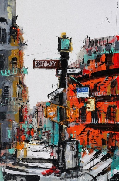 Irina Rumyantseva - New York Skyline - This Way To Broadway