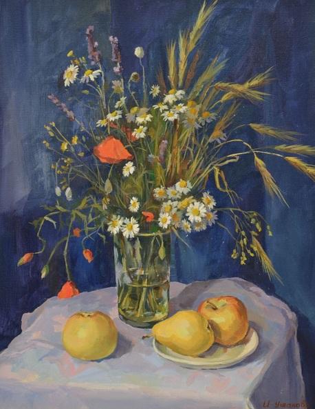 Irina Ushakova - Daisies And Poppies