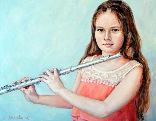 Irina Ushakova - Girl with flute