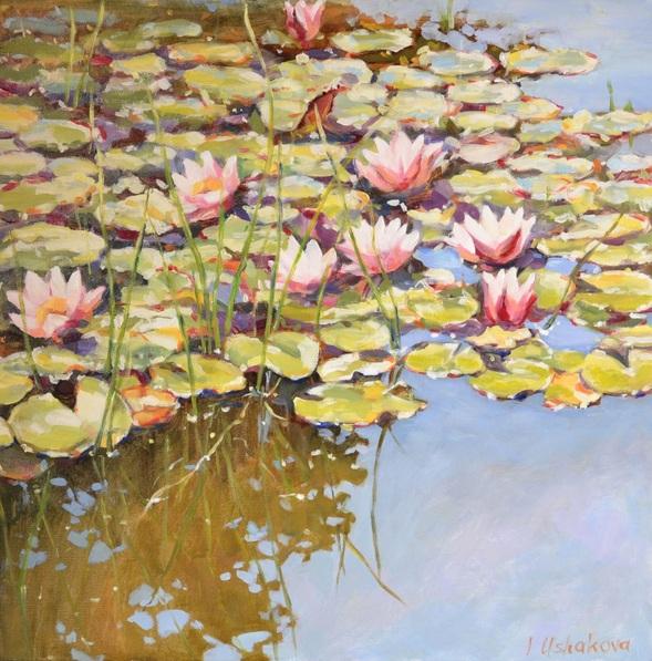 Irina Ushakova - Pink waterlilies