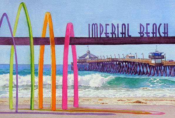 Mary Helmreich - Imperial Beach Pier California
