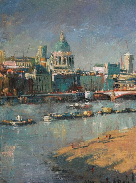 Robby Bridge - London, River thames, St Paul's Cathedral
