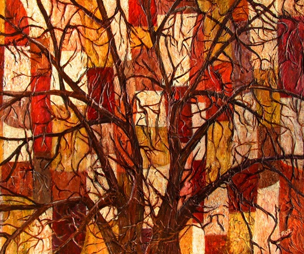 Roz Edwards - Patchwork Tree