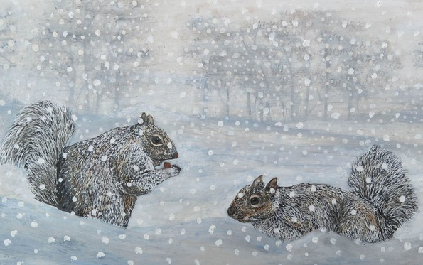 Roz Edwards - Squirrels In The Snow