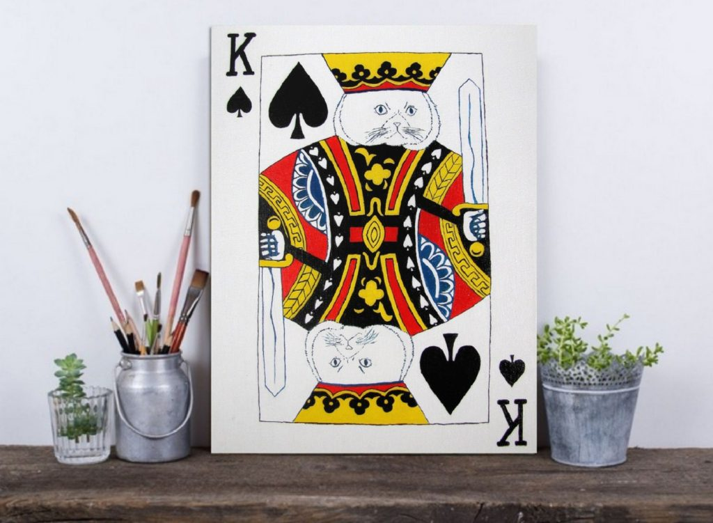 Yuliia Ustymenko - King of Spades. Cat. Home