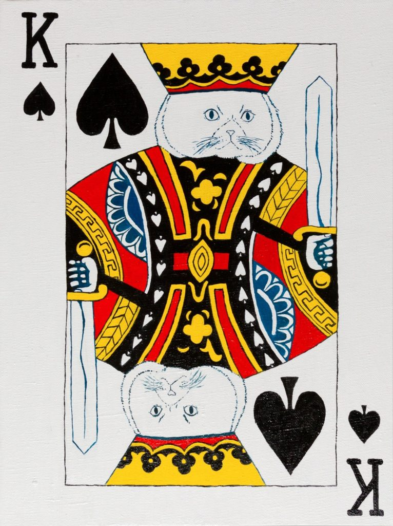 Yuliia Ustymenko - King of Spades. Cat. Playing card
