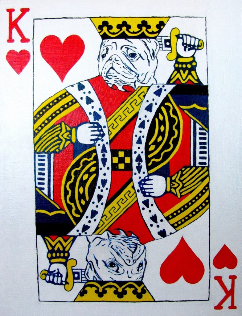 Yuliia Ustymenko - King of hearts. Pug
