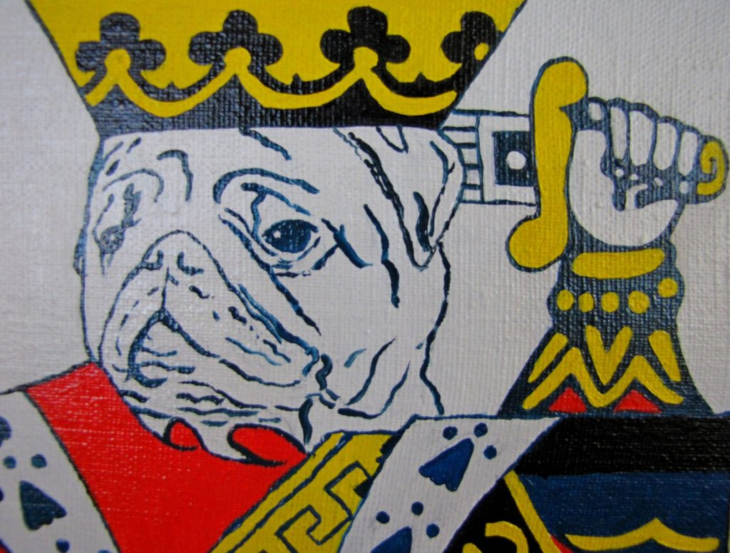 Yuliia Ustymenko - King of hearts. Pug. Detail