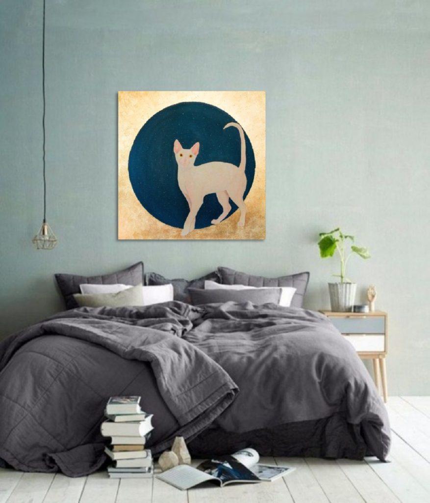Yuliia Ustymenko - Lunar cat. Home