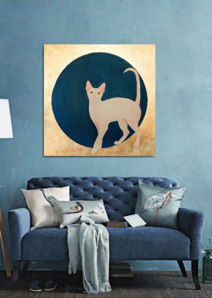 Yuliia Ustymenko - Lunar cat. Interior in-contex