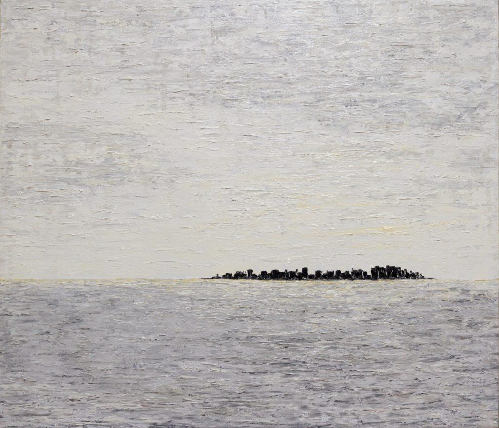 Yuliia Ustymenko - Silence. Abstract landscape. Gray