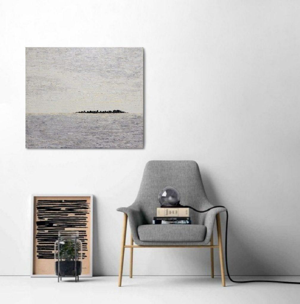 Yuliia Ustymenko - Silence. Abstract landscape. Interior