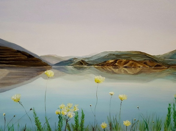 Coralie Foster - Reflections at Potami Dam Crete