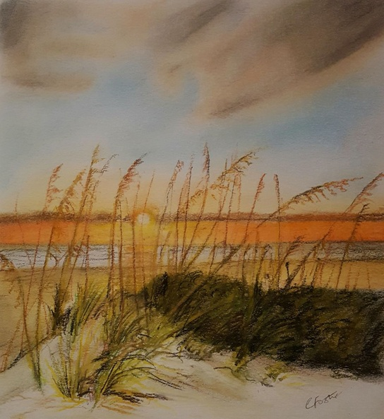 Coralie Foster - Sunset on the dunes