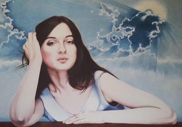 Cristina Cañamero - María in divine sky