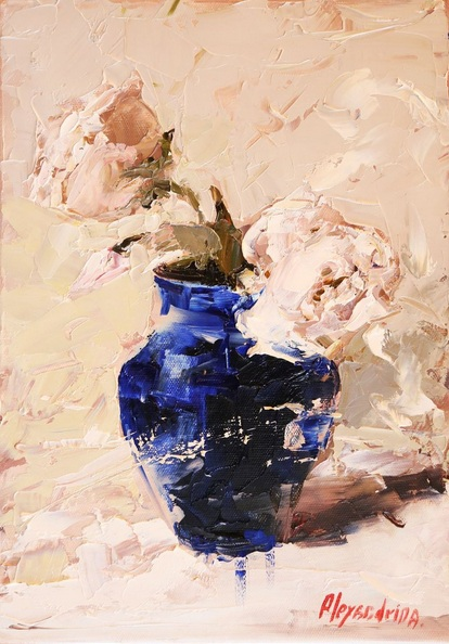 Irina Alexandrina - Flowers in the Blue Vase