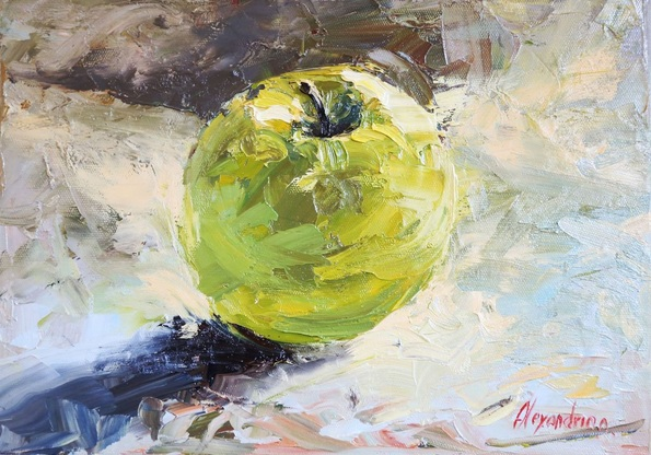 Irina Alexandrina - Still Life with Green Apple