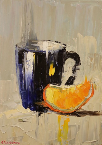 Irina Alexandrina - Still Life with Orange Slice