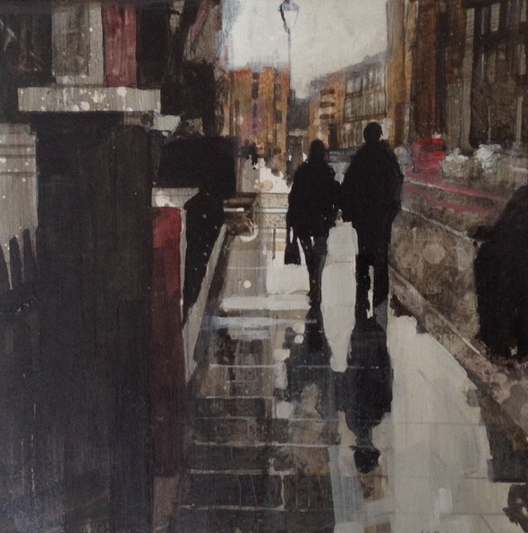 Julian Sutherland-Beatson - Couple walking in the rain, Chelsea