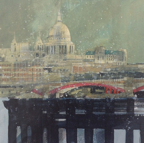 Julian Sutherland-Beatson - St Paul's from the South Bank, London