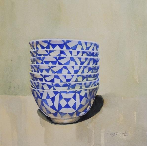 Krystyna Szczepanowski - Blue and white bowl