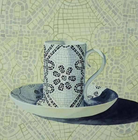 Krystyna Szczepanowski - Portrait of a yellow Portuguese coffee cup