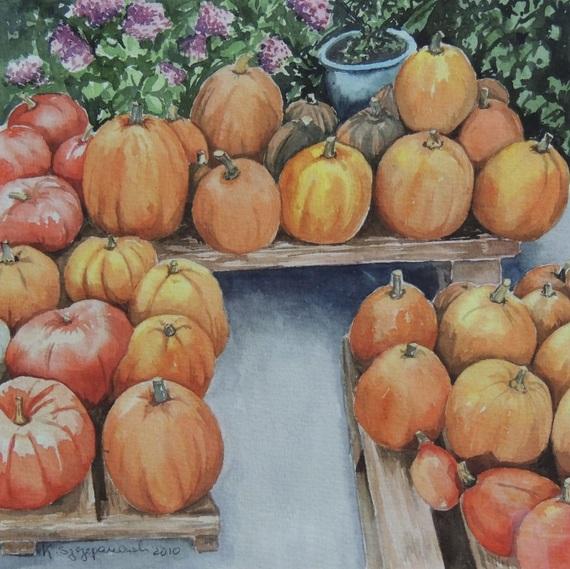 Krystyna Szczepanowski - Pumpkins galore