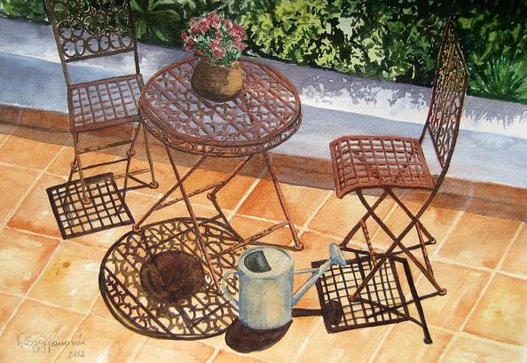 Krystyna Szczepanowski - Summer patio