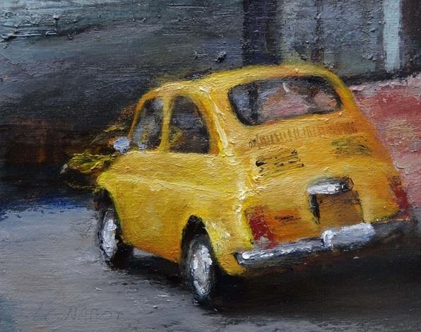 Manuel Leonardi - Fiat 500 yellow