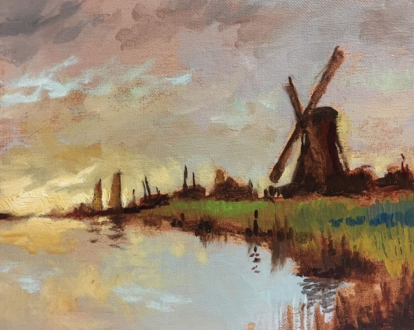 Rod Norman - Water Pump on the Broads at Sunset