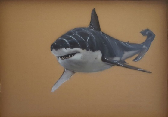 Sarah Barnard - Lucy the Great White Shark in Aid of the Shark Trust