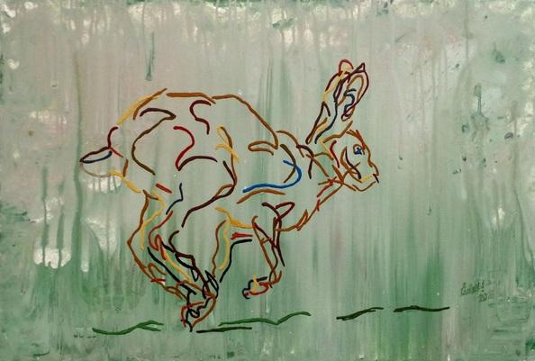 Uli Lächelt - Running hare
