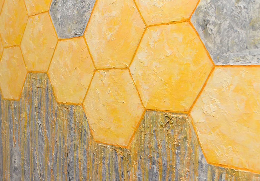 Yuliia Ustymenko - Honeycombs. Abstraction. Detail