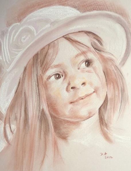 Danielle ARNAL - portrait sanguine
