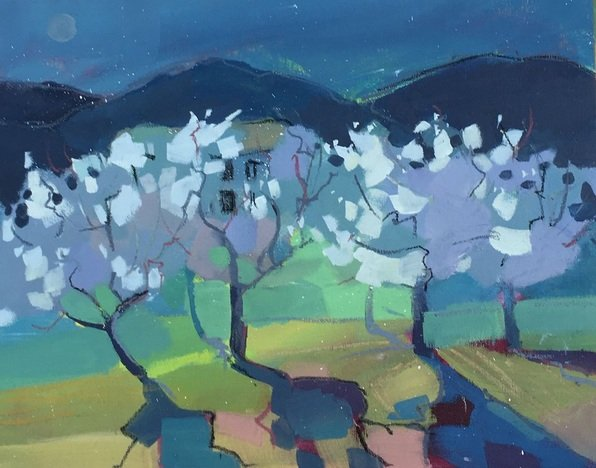 Diana-Davydova-Almond-Orchard-at-Dusk