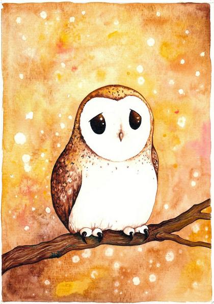 Evgeniya Kartavaya - Autumn owl