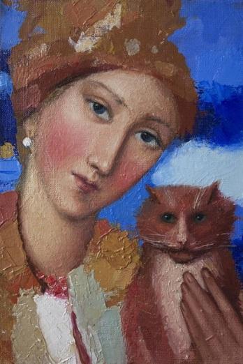 Kateryna Kosianenko - Girl and cat
