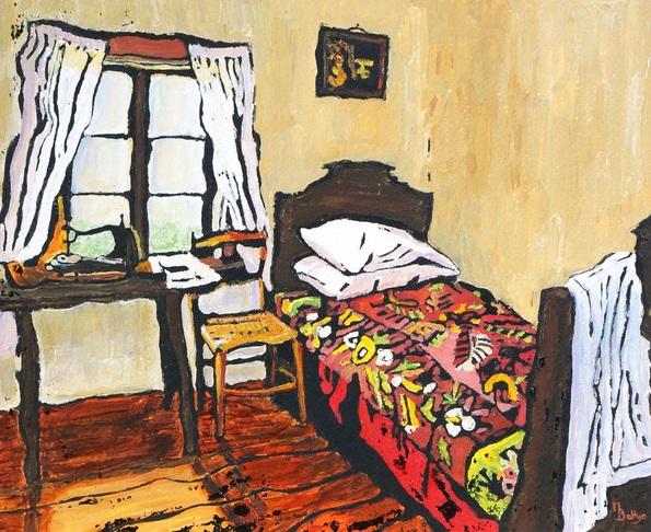 Margaret Battye - A Seamstress's Bedroom - Framed - Ready To Hang
