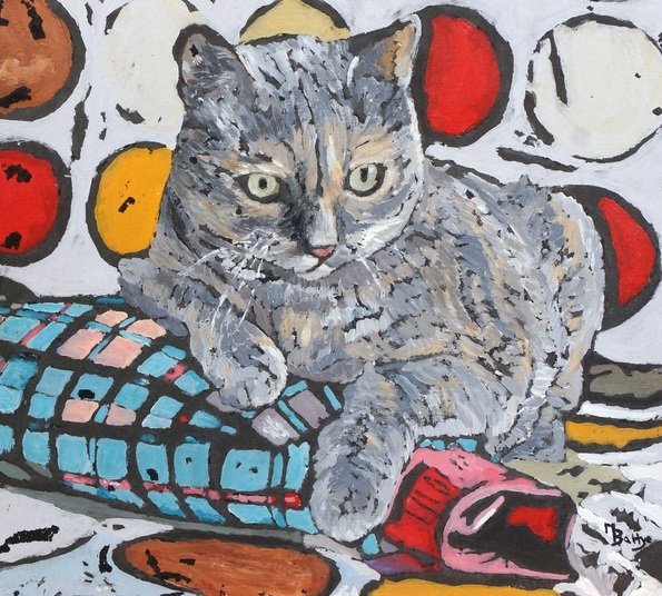 Margaret-Battye-Cool-Cat-On-A-Hot-Water-Bottle