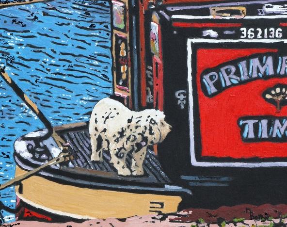 Margaret Battye - Dog On A Narrow Boat
