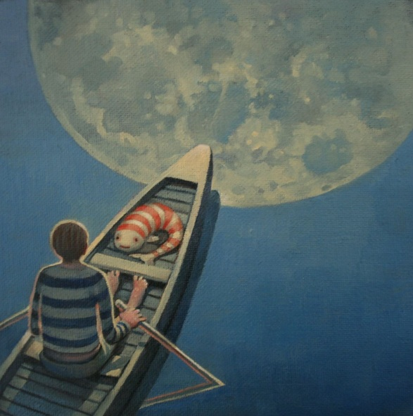 Rory Mitchell - Fish and loon over the moon