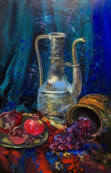 Olga Panina - Asian still life with pomegranates