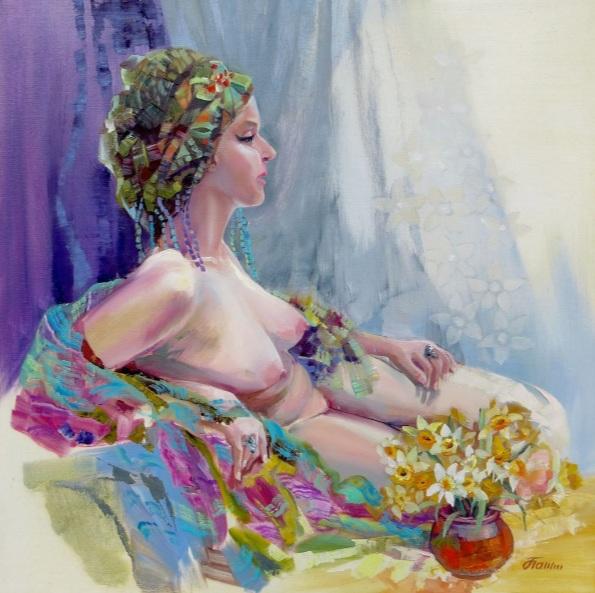 Olga Panina - NUDE. GIRL IN a TURBAN
