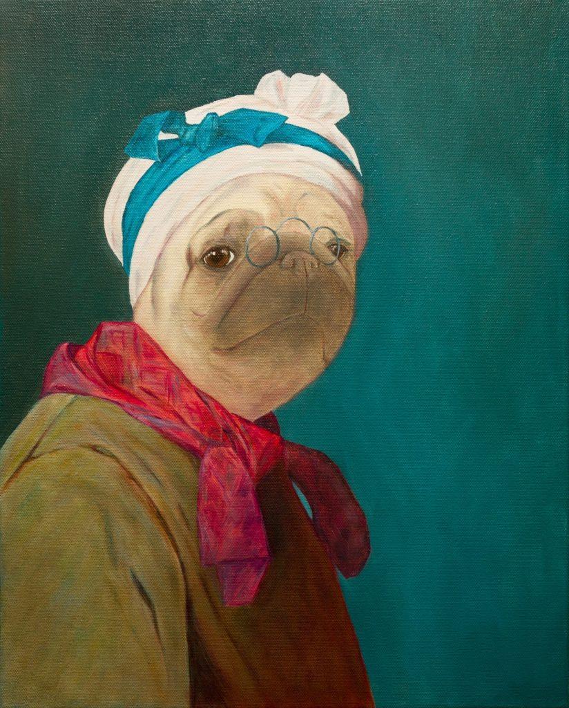 Yuliia Ustymenko-Wombart - Pugdin-Self-portrait