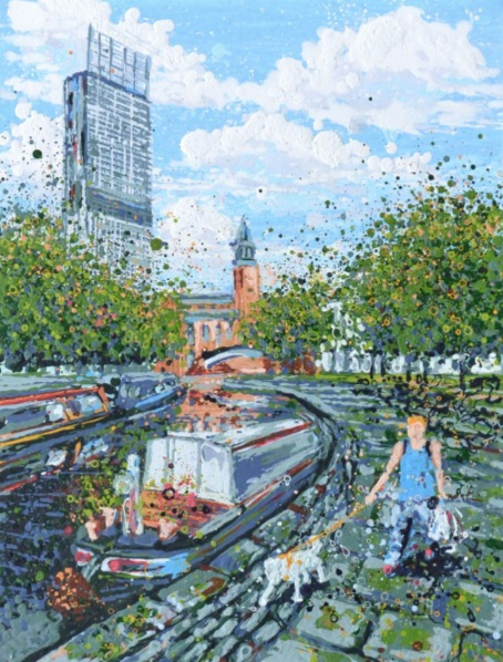 Angelique Hartigan - A Canalside Walk, Manchester