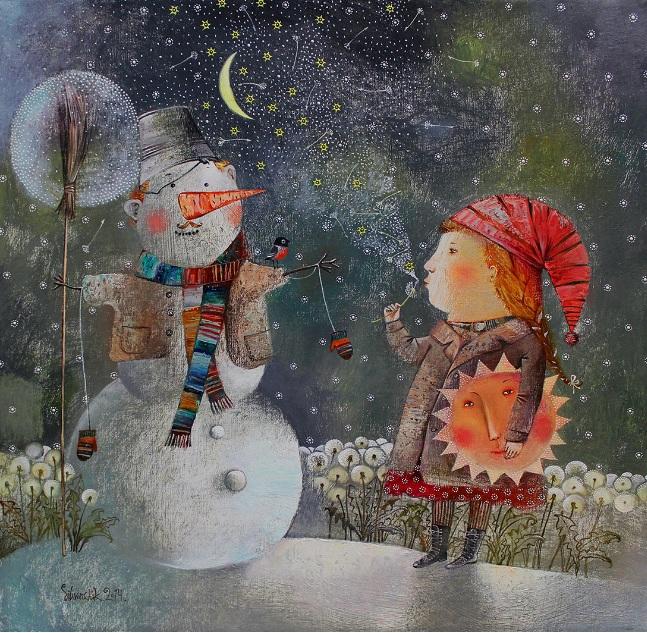 Anna Silivonchik - Winter Dandelions