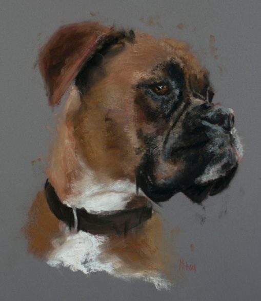 Matt Foy - Boxer Sketch in Pastel