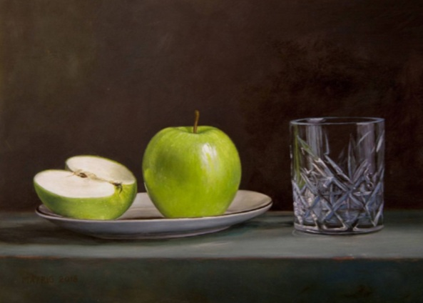 Mayrig Simonjan - Green Apples with Glass