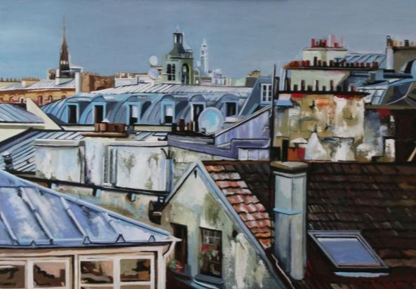Clotilde Nadel - toits de Paris