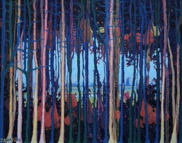 Paul Zawadzki - St Olaves Through the Trees